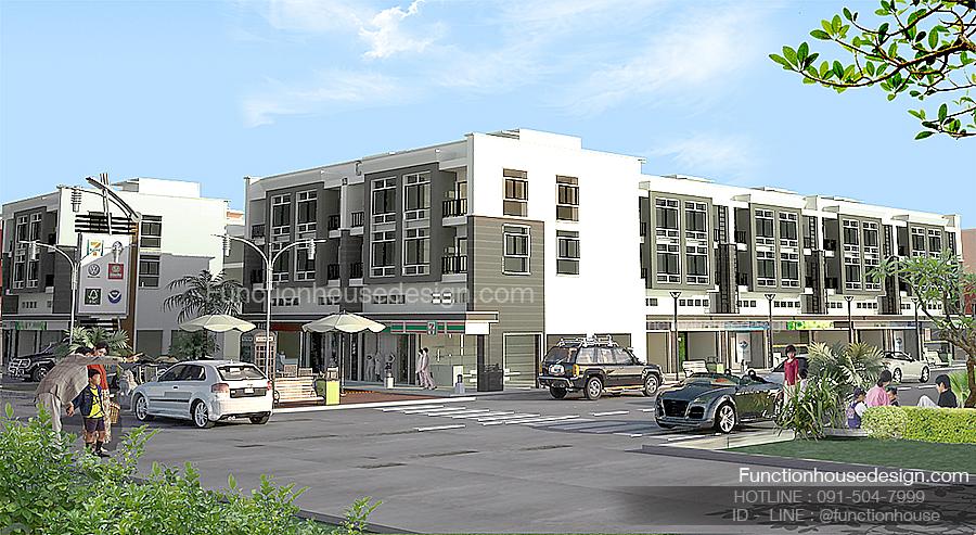 ออกแบบโครงการบ้านอาคารตึกแถว โดย Functionhouse