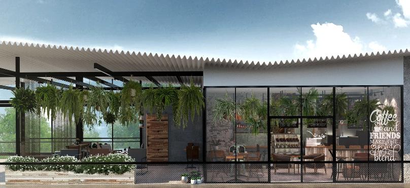 แบบบ้าน แนวตกแต่ง : Loft Yoga Cafe - Feed Your Spirit Design Idea